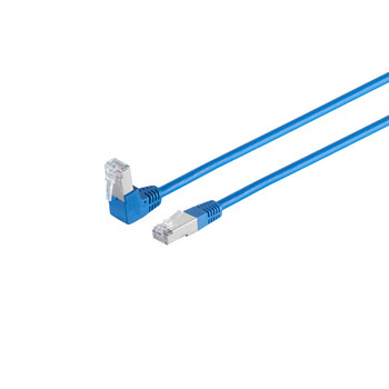 Patchkabel cat 6 S/FTP PIMF 90°-gerade blau 0,25m