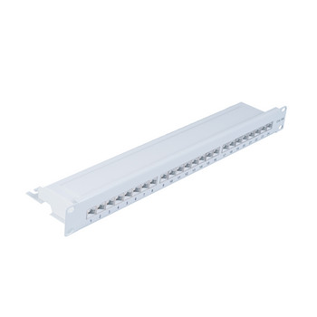 Patchpanel Cat.6A, 24-Port lichtgrau