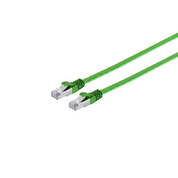 RJ45 Flachkabel m. CAT 7 Rohkabel slim grün 0,25